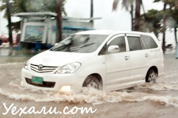 Pattaya Beach Road rain
