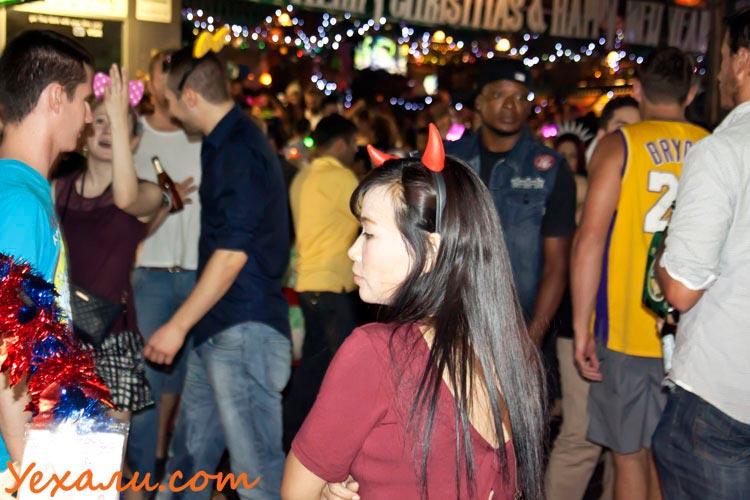 Тайцы на Новый год в Таиланде