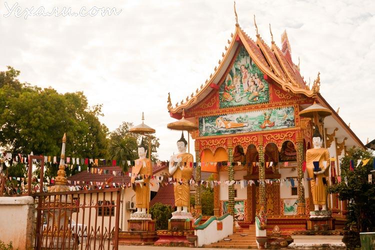Буддийский храм в Лаосе