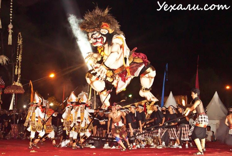 Ньепи, балийский Новый год, Тегаллаланг