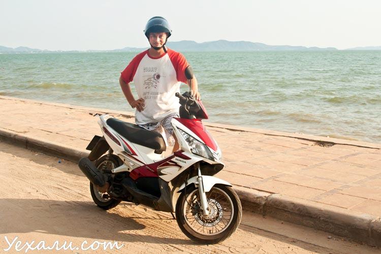 Как купить мотоцикл в Тайланде. Honda Air Blade Паттайя