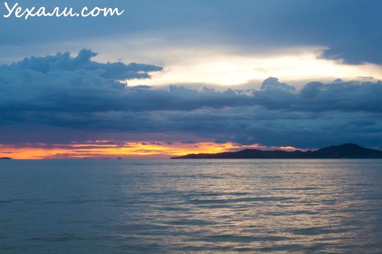 лучшие фото заката в Паттайе