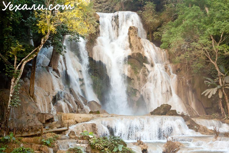 Достопримечательности Луанг Прабанга: водопад Куанг Си (Kuang Si Waterfall)