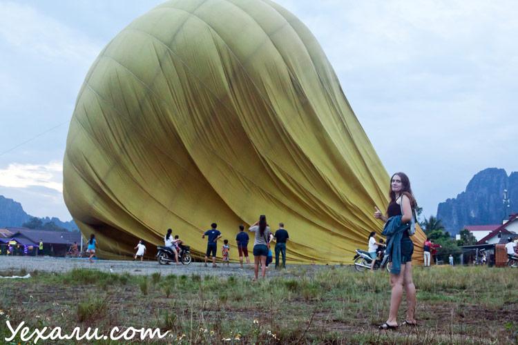 полет на воздушном шаре в ванг вьенге