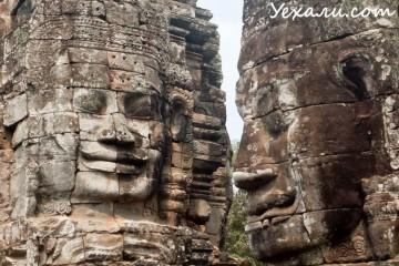 Ангкор, Камбоджа, на фото - Байон