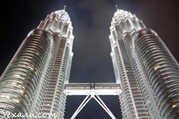 Интересные факты о Куала-Лумпуре: высота башен Петронас.