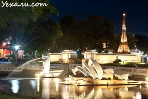 Куда пойти вечером в Паттайе - парк миниатюр Мини Сиам