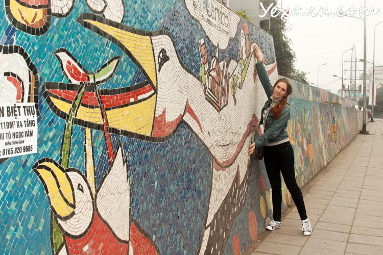 Карта Ханоя с достопримечательностями: Гигантская керамическая мозаика