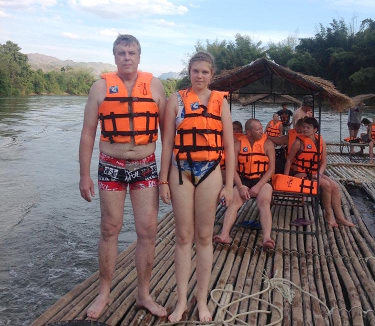 Фруктовый рай на реке Квай: сплав в жилетах