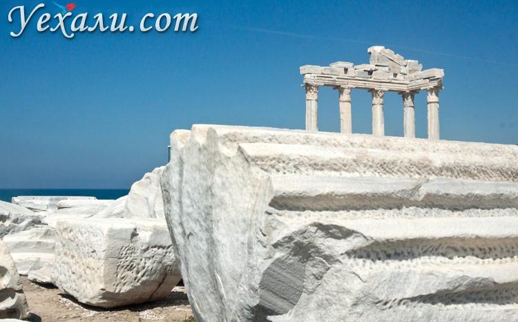 Достопримечательности Сиде, Турция: Храм Аполлона.