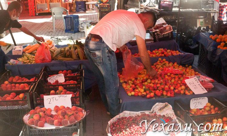 Цены на еду и продукты в Махмутларе, Турция.