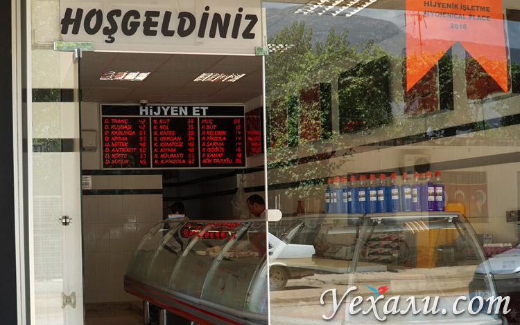 Цены в Турции на продукты