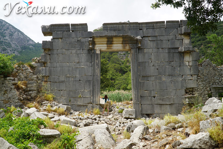 Древний город Олимпус в Турции