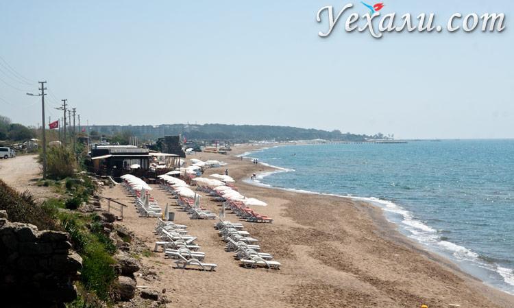 Восточный пляж Сиде.