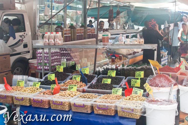Цены на еду в Турции: субботний рынок Махмутлара.