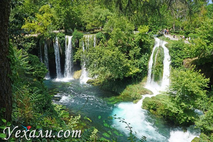 Водопад Верхний Дюден в Анталии в маршруте по Турции