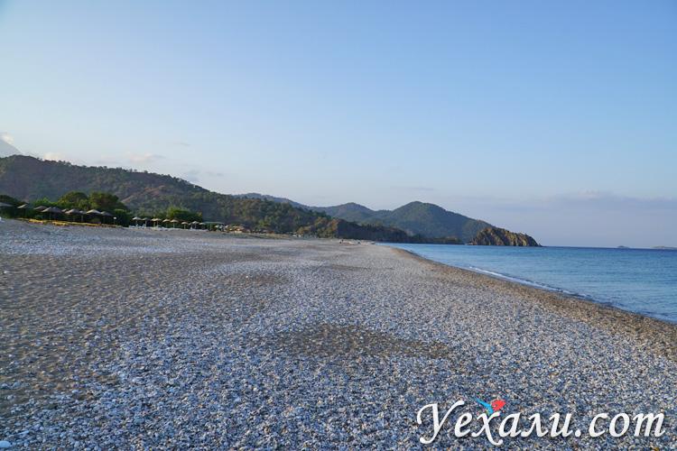 Пляж Чиралы в Турции