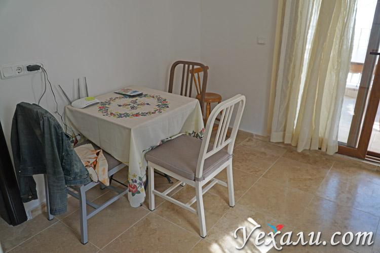 Кухня в апартаментах в Каше