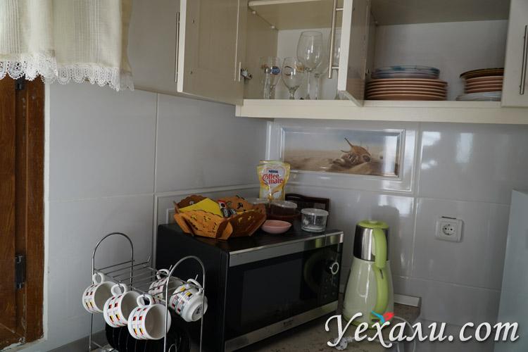 Кухонные принадлежности в отеле