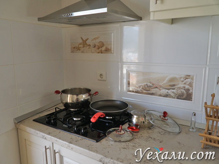 Плита на кухне в Каше