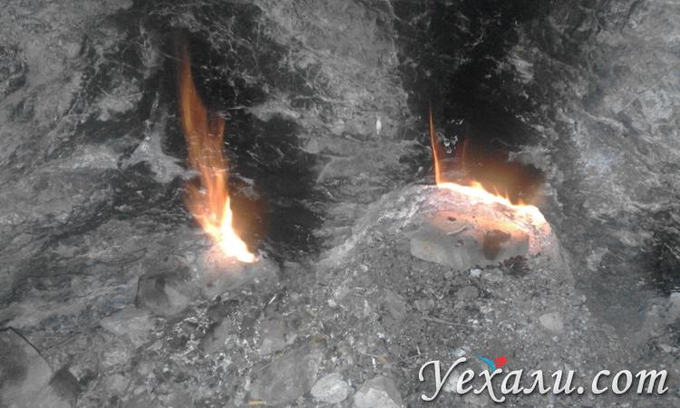 Гора с огнем в Турции