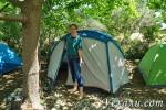 Кемпинг в Турции: наша палатка у моря в поселке Чиралы. Не разрази ее гром!