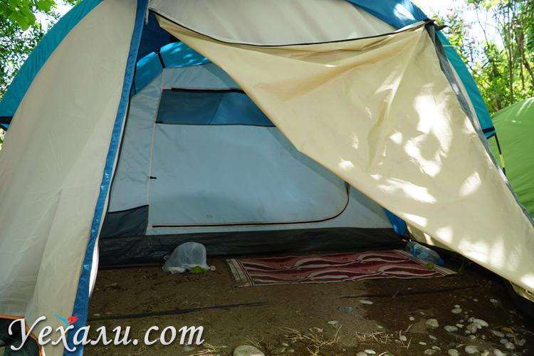 Палатка в Чиралы