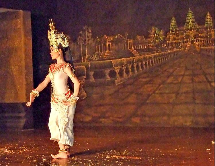 Кхмерский танец Апсара, фото.