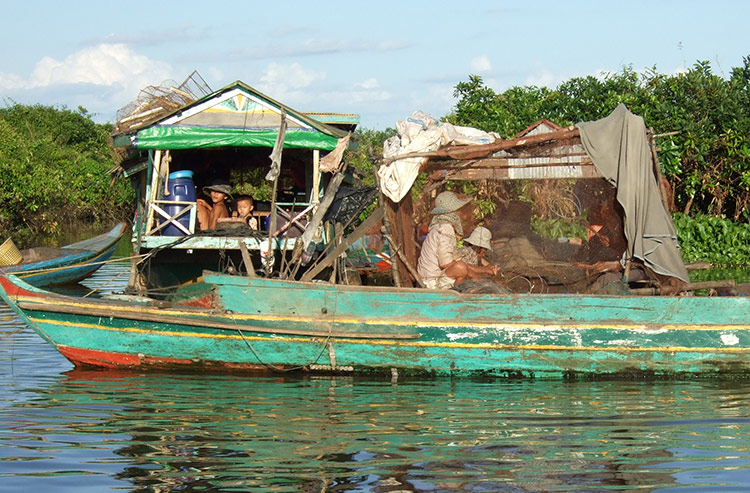Фото озера Тонлесап, Камбоджа.