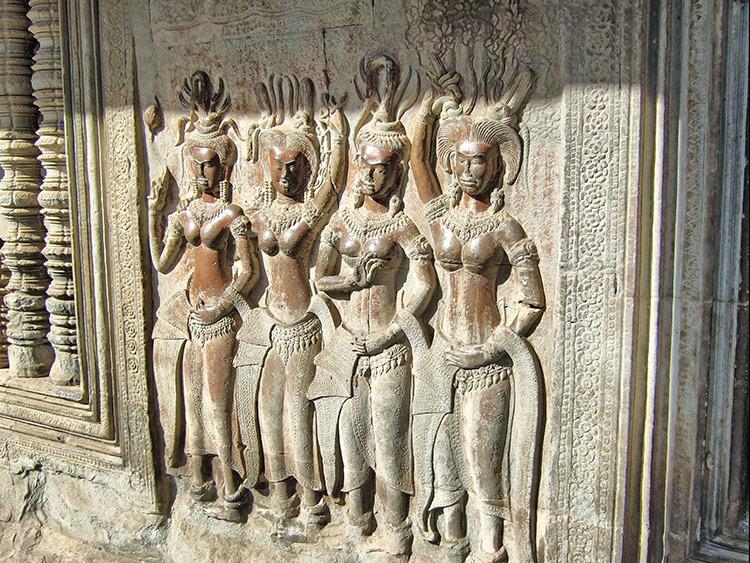 На фото - Храмовый комплекс Ангкор Ват, Камбоджа.