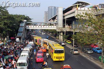 Как добраться из Паттайи в Бангкок самостоятельно? Станция метро BTS Mo Chit.