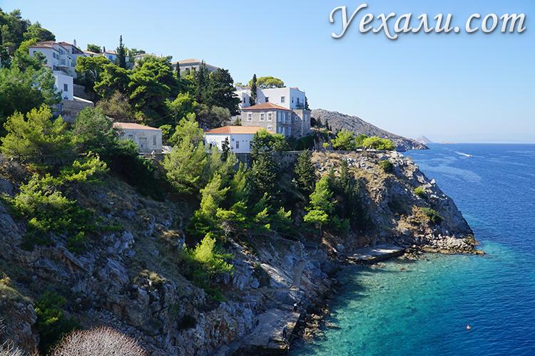 Ландшафт острова Идра в Греции