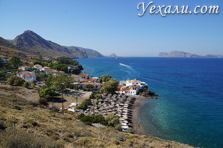 Пляж острова Гидра в Греции