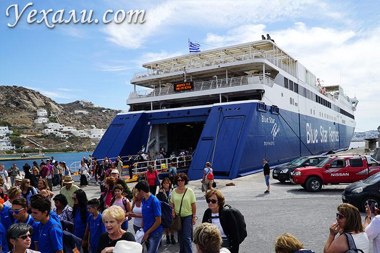 Как поехать в Грецию самостоятельно без турфирм: паром на Миконос.