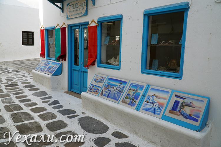 Сувенирные магазинчики на Миконосе