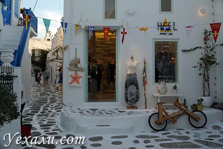 Красивые улицы Миконоса, отдых на Миконосе