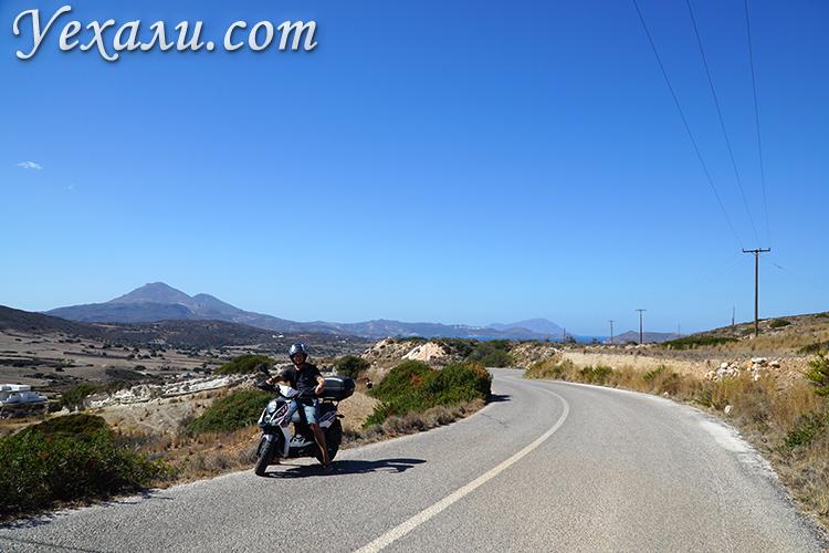 Аренда мотобайка на острове Милос, Греция