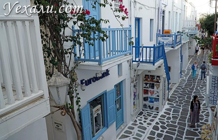 Достопримечательности острова Миконос, Греция: Улица Матоянни.