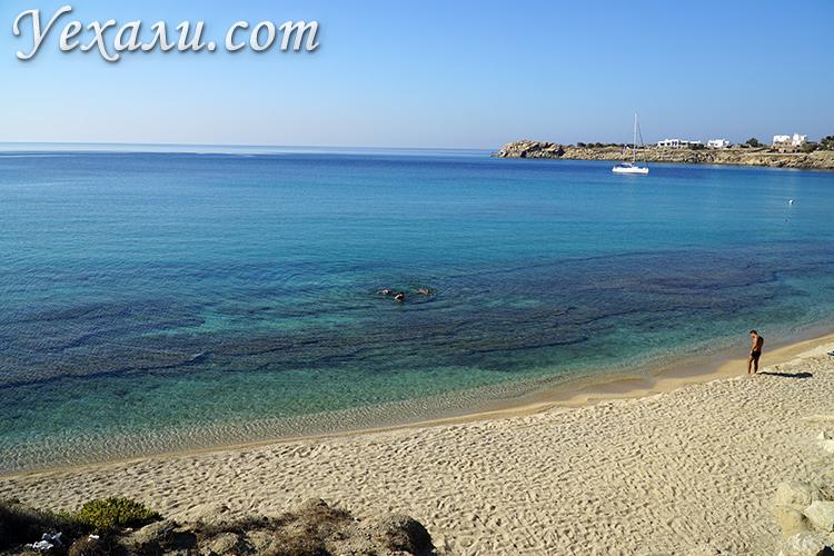 Фото пляжа Парадайз на Миконосе Греция