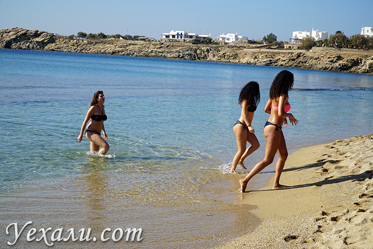 Фотографии пляжа Парадайз на Миконосе