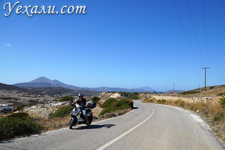 Прокат мотоциклов на Милосе, Греция
