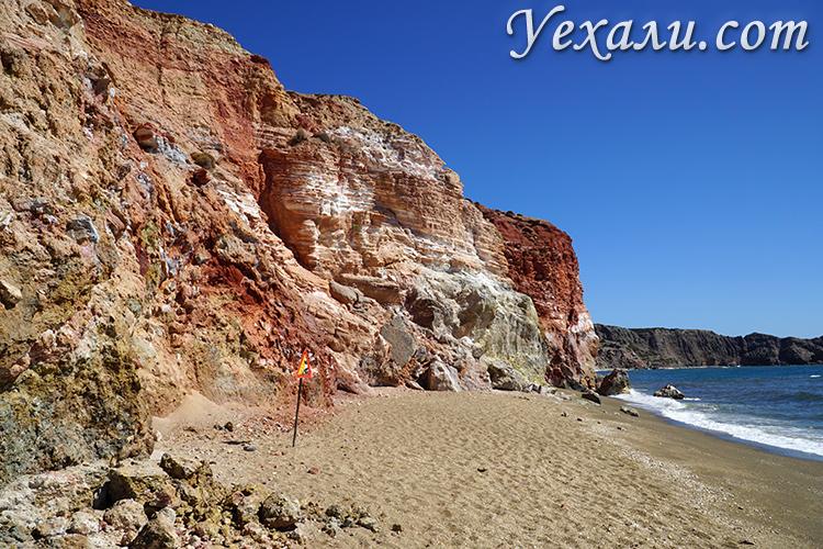 Скалы на пляже Палиохори