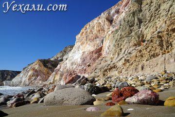 Самые красивые фото острова Милос в Греции: пляж Фириплака.