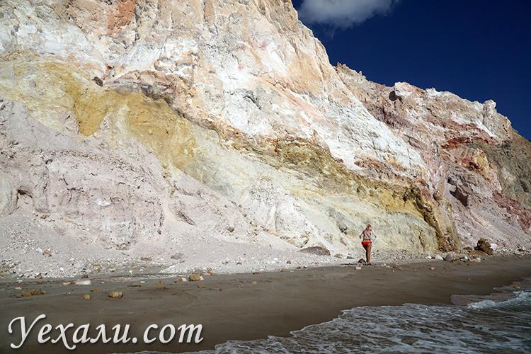 Все пляжи острова Милос в Греции: Фириплака.