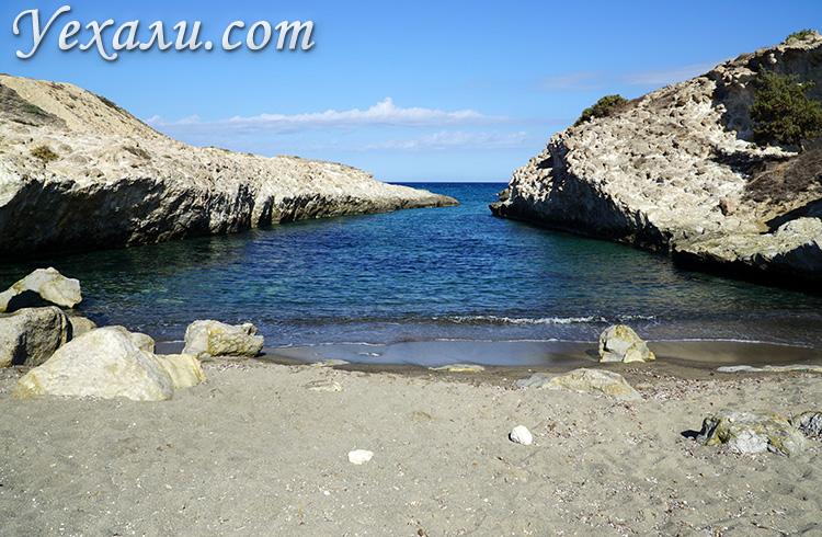 Все пляжи Милоса, Греция: Капрос.