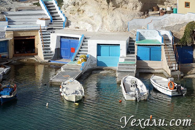 Красивые фото поселка Мандракия на Милосе