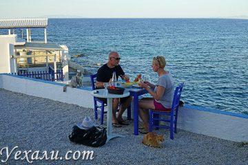Цены на Милосе на еду: ресторан морепродуктов Medousa.