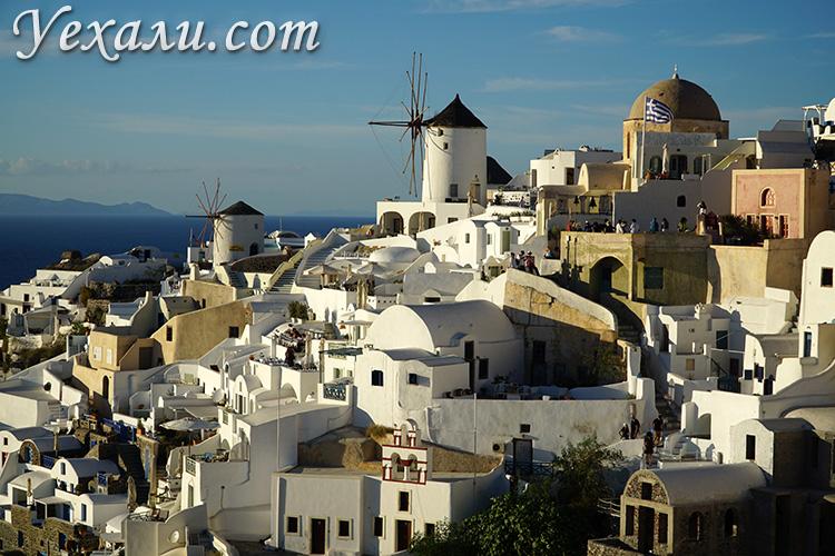Отзывы про отдых на Санторини в Греции: закат в Ойе.
