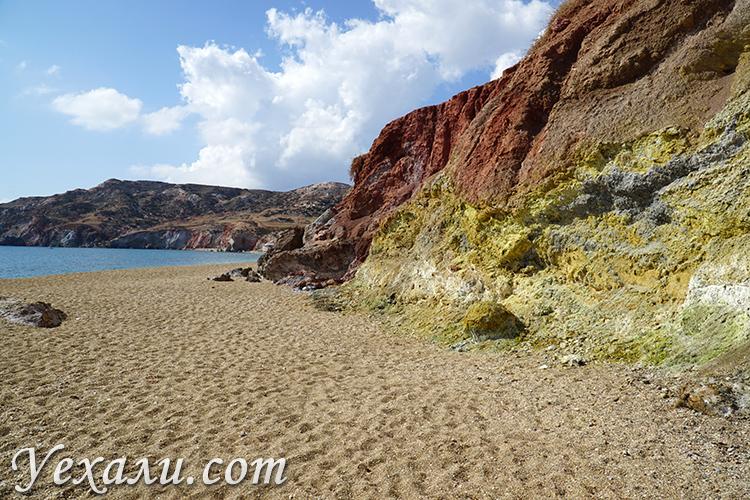 Пляж Палиохори на Милосе, фото и отзывы