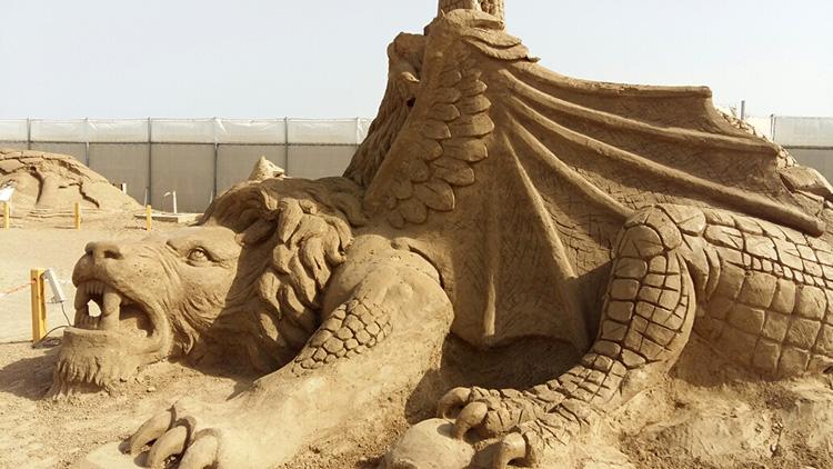 Песчаные скульптуры в Анталии